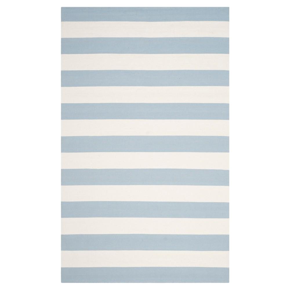 Mati Flatweave Area Rug - Sky Blue / Ivory (9' X 12') - Safavieh