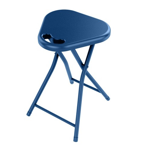 Folding Stool with Handle (Set of 4) Blue Moon - urb SPACE - image 1 of 2