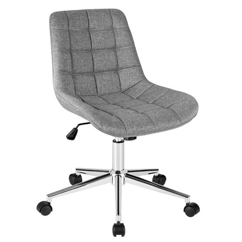 Costway Mid Back Armless Office Chair, Armless Office Chair