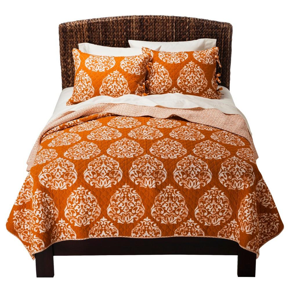 Hope Reversible Quilt Set - Orange (King) - Mudhut