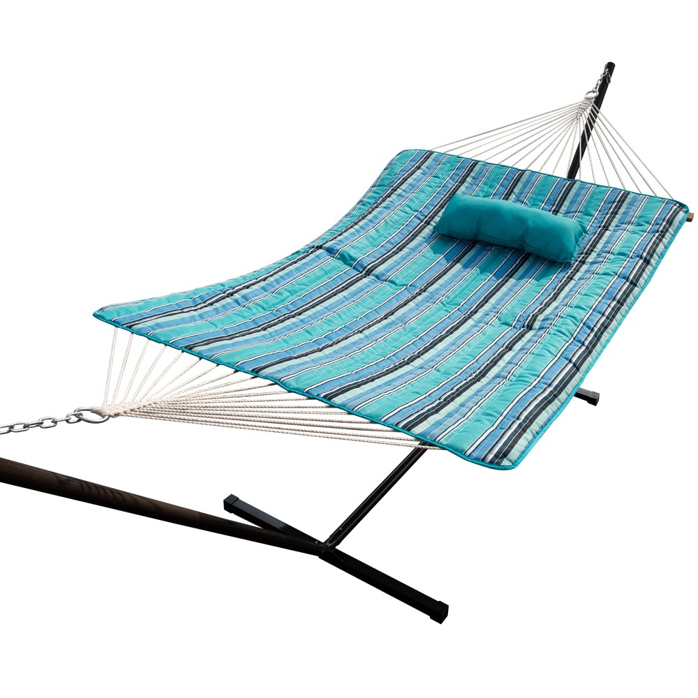 Image of Island Retreat Hammock Pillow & Pad Set - Blue - Island Umbrella