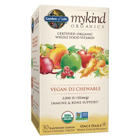Garden of Life My Kind Organic Vitamin D3 Chewables - Raspberry-Lemon - 30ct - image 1 of 4