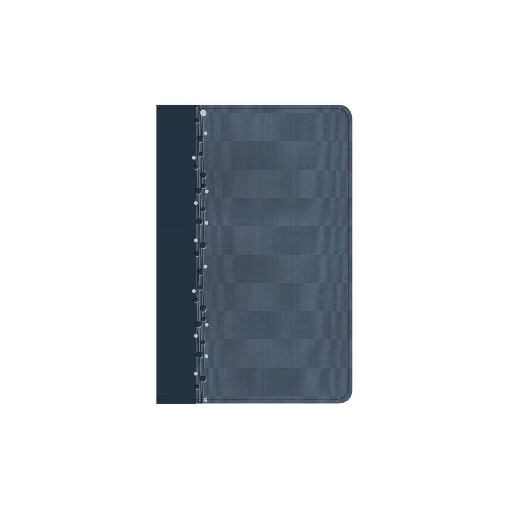 Holy Bible : Christian Standard Bible, Slate Blue LeatherTouch, On-the-Go Bible - (Paperback)