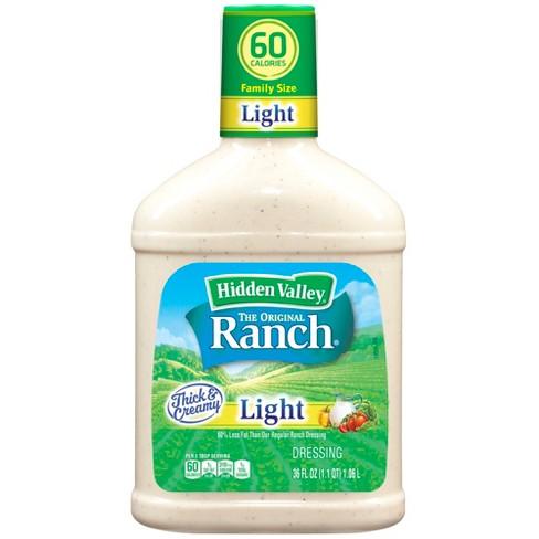 Hidden Valley Original Ranch Light Salad Dressing & Topping, Gluten Free, keto-friendly - 36oz - image 1 of 4