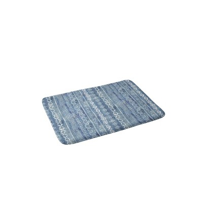Schatzi Brown Modern Mudcloth Light Memory Foam Bath Mat Blue - Deny Designs