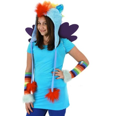 Elope My Little Pony Rainbow Dash Hoodie Hat Costume Accessory