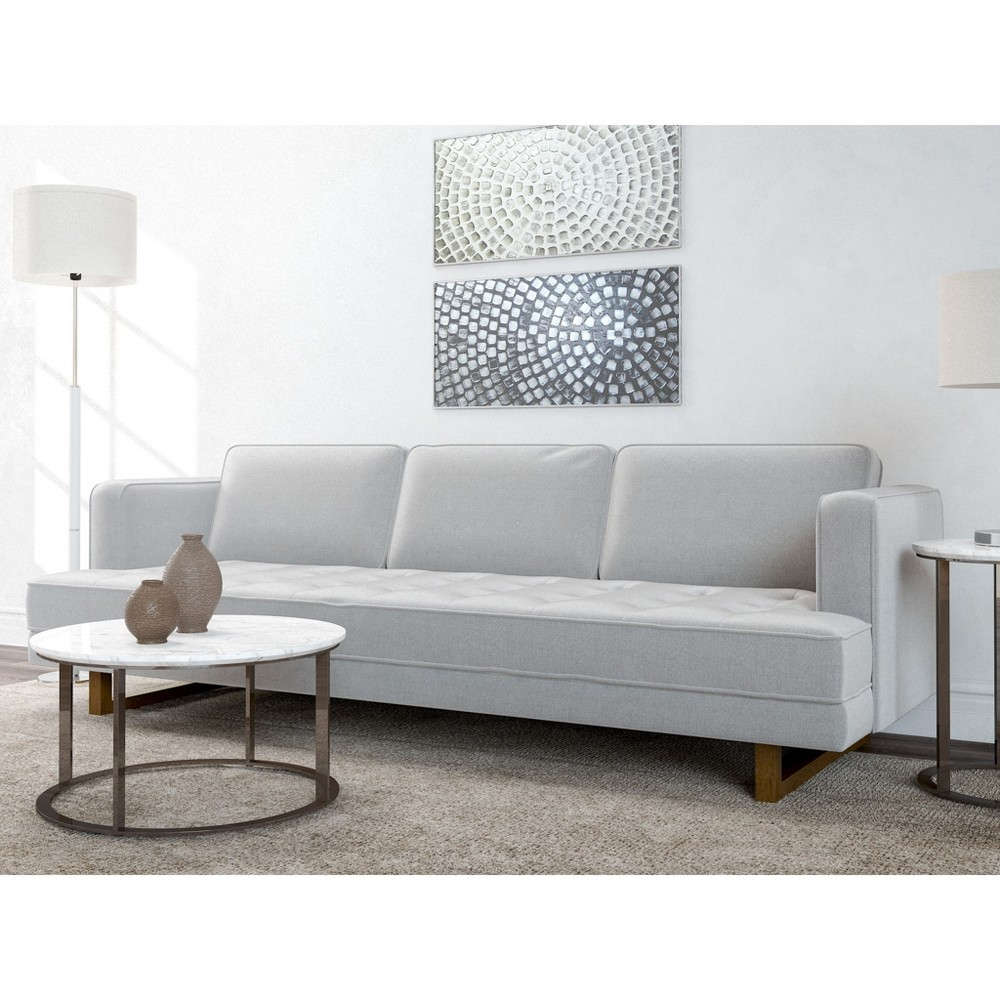 Image of Pearl ModernTufted Sofa Heather Gray - AF Lifestlye, Grey Gray