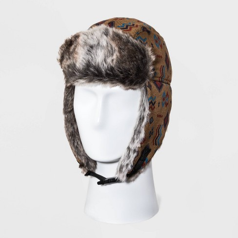 Men's Geometric Sherpa Trapper Hat - Original Use™ One Size - image 1 of 2