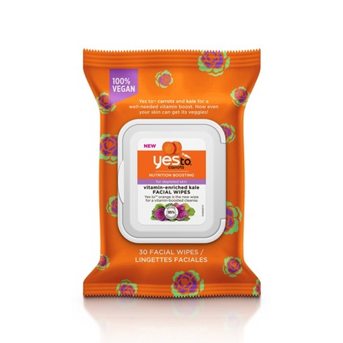 Yes To Carrots & Kale Face Wipes - 30ct - image 1 of 2