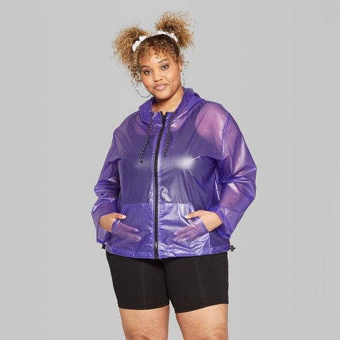 776c5261e Women's Plus Size Translucent Rain Jacket - Wild Fable™ Muted Blue