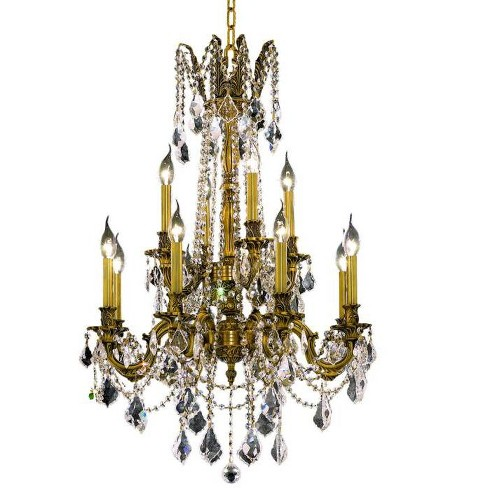 Elegant Lighting 9212D24FG Rosalia 12-Light, Two-Tier Crystal Chandelier, Finished in French Gold - image 1 of 1