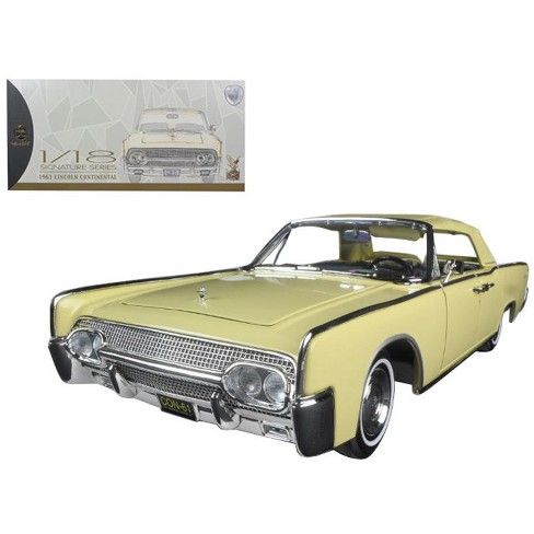 1961 Lincoln Continental Yellow 1/18 Diecast Model Car by Road Signature - image 1 of 1