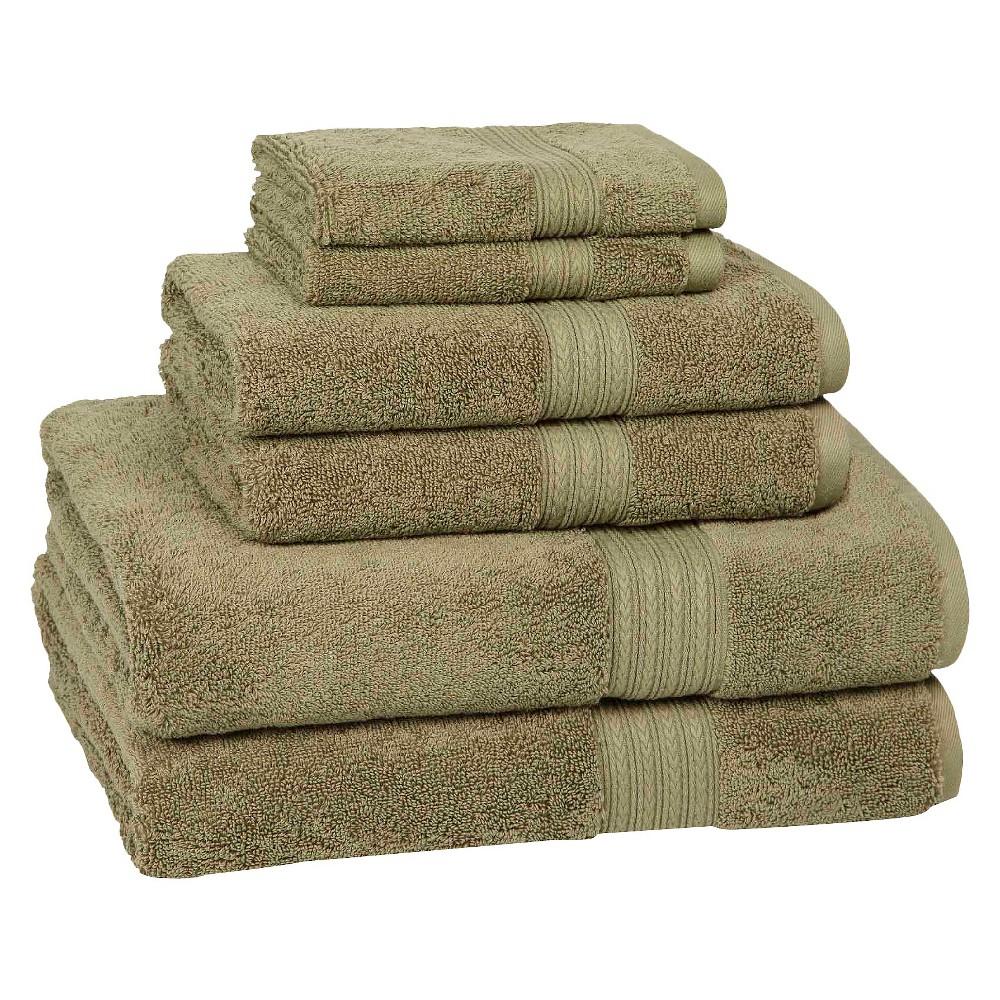 6pc Signature Solid Bath Towel Set Olive Green - Cassadecor Reviews
