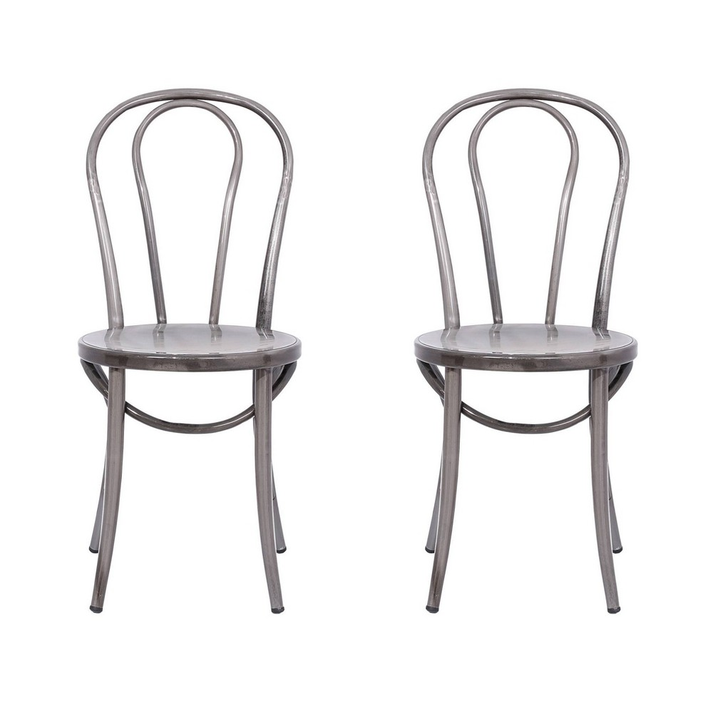 Image of Ellie Bistro Dining Chair (Set of 2) - Reservation Seating by Ace Bayou, Distressed Grey