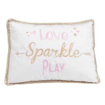 Lambs & Ivy Confetti Throw Pillow - White