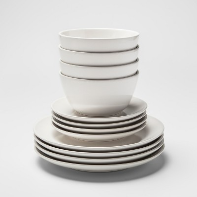12pc Avesta Stoneware Dinnerware Set White - Project 62™