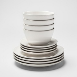 12pc Stoneware Avesta Dinnerware Set White - Project 62™