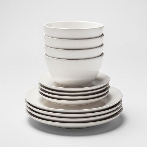 12pc Stoneware Avesta Dinnerware Set White - Project 62™ - image 1 of 3
