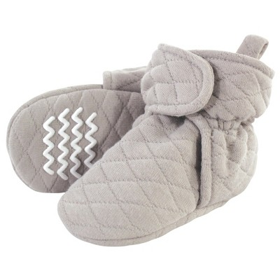 Hudson Baby Baby and Toddler Quilted Booties, Gray