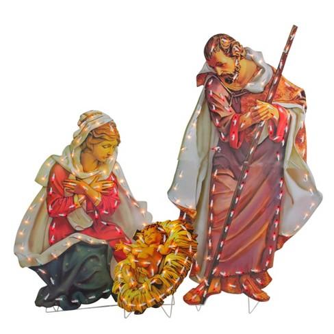 "Roman 48"" Fontanini Holy Family Lighted Nativity Christmas Outdoor Decoration - image 1 of 3"