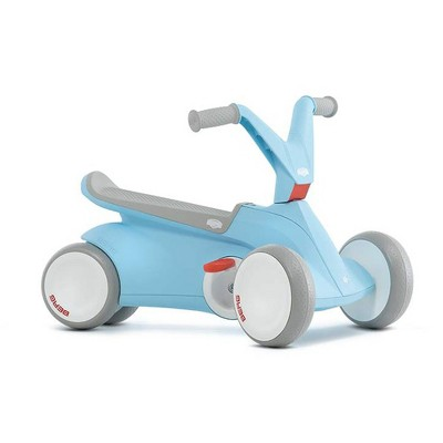 BERG Toys GO2 2-in-1 Toddler Push and Pedal Small Go-Kart Indoor Outdoor 4-Wheel Ride On Toy, Blue