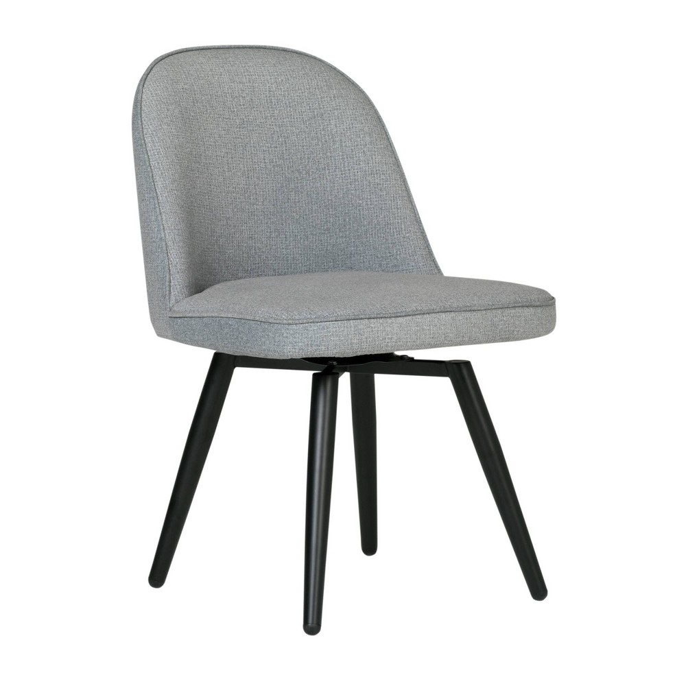 Dome Armless Swivel Chair Gray - Studio Designs Home