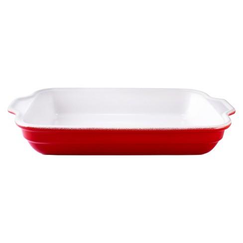 Emile Henry Rectangular Baking Lasagna Pan 16 X 11 Large Red