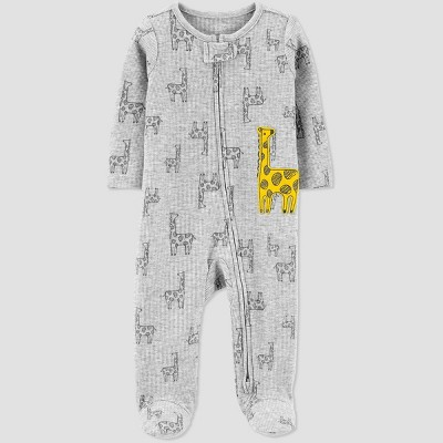 Baby Boys' Giraffe 1pc Pajama - Just One You® made by carter's Gray 3M