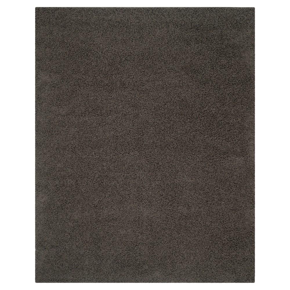 Solid Loomed Area Rug Dark Gray