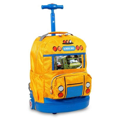 "J World 16.5"" School Bus Rolling Backpack - Yellow"