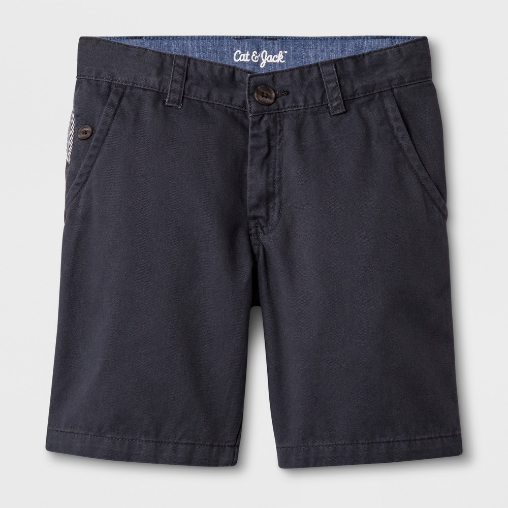 Boys' Chino Shorts - Cat & Jack Charcoal (Grey) 4