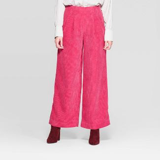 Women's Mid-Rise Corduroy Wide Leg Trousers - Prologue™ Pink 14