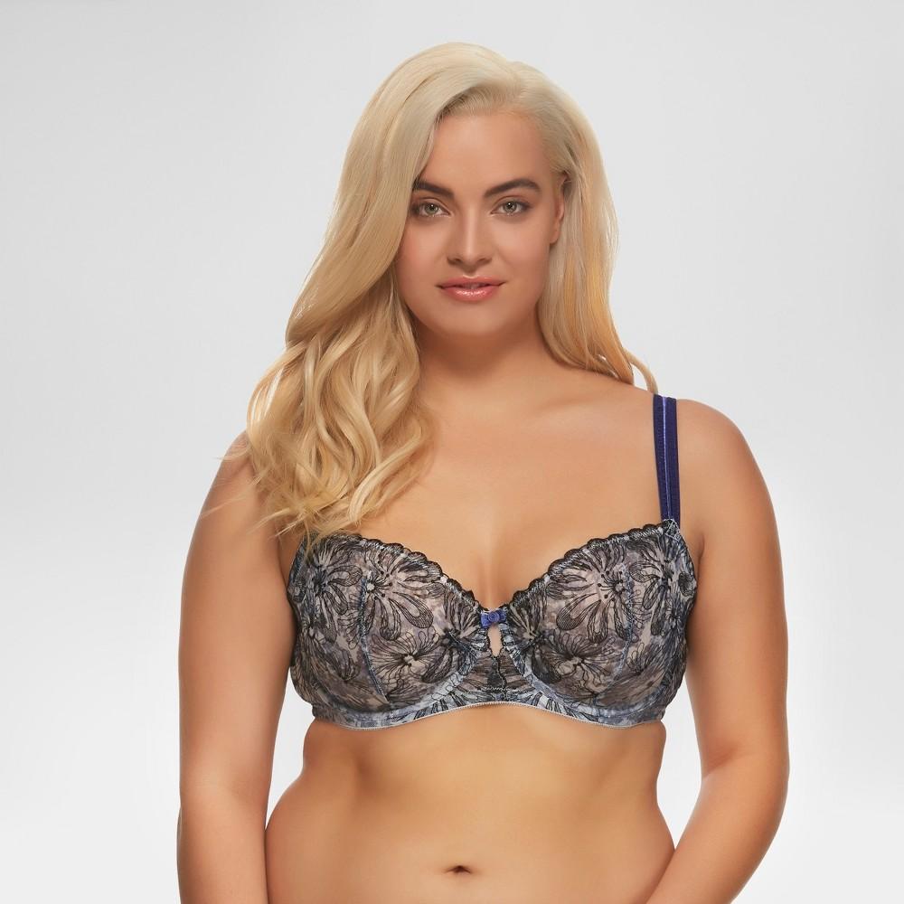 Paramour Women's Floral Print Ellie Unlined Bra - Blue 40D
