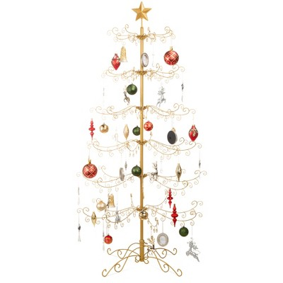 Best Choice Products Wrought Iron Ornament Display Christmas Tree w/ Easy Assembly, Stand