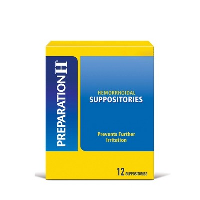 Preparation H Hemorrhoidal Suppositories - 12ct