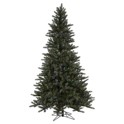 6.5ft Pre-Lit LED Artificial Christmas Tree Spokane Pine EZ-Instant -  Multicolored Lights - 6.5ft Pre-Lit LED Artificial Christmas Tree Spokane Pine EZ-Instant