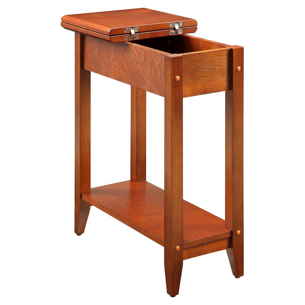 American Heritage Flip Top End Table Cherry - Convenience Concepts, Auburn
