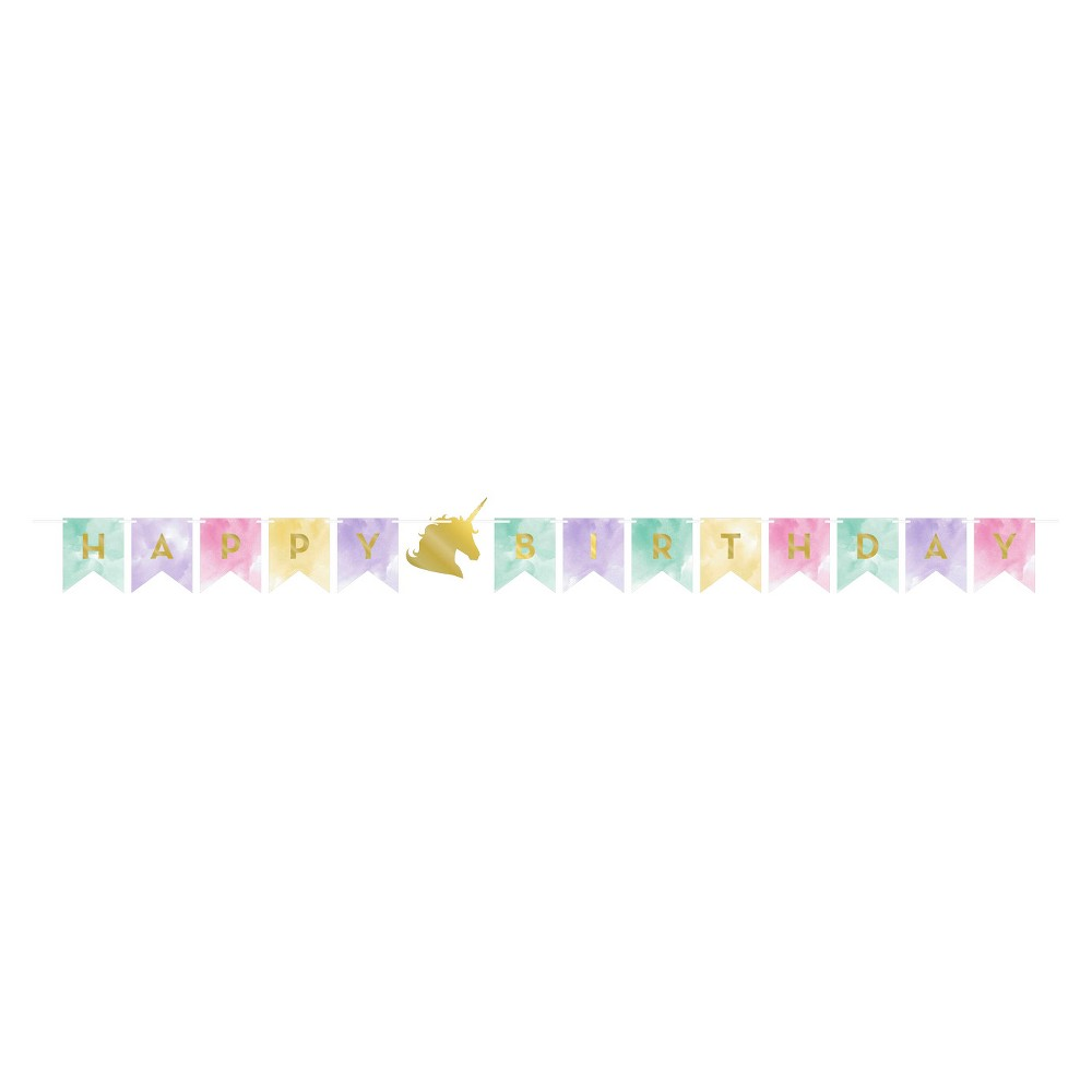 Creative Converting Sparkle Unicorn Party Banner