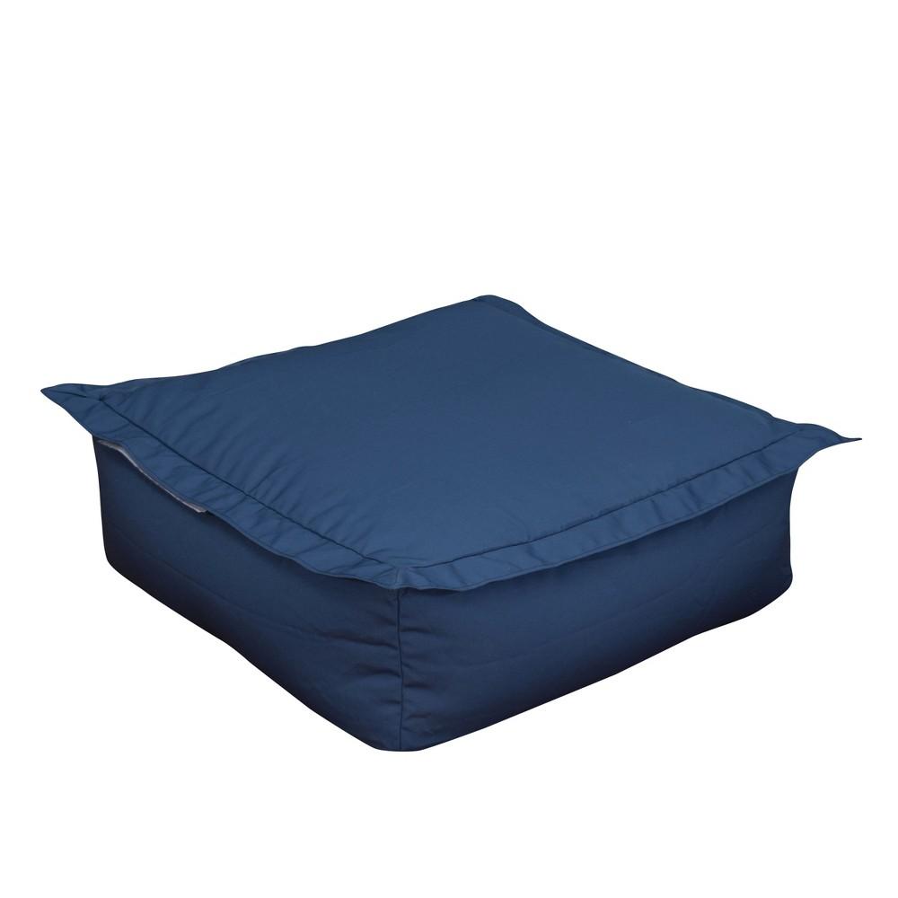 Image of Outdoor Bean Bag Ottoman - Blue - Ace Bayou