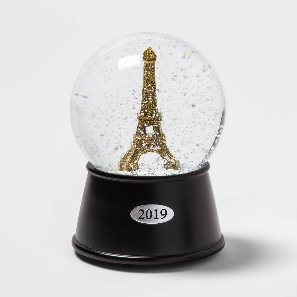 "Image of ""5.5"""" x 3.8"""" Eiffel Tower Musical Snow Globe Gold - Wondershop"""