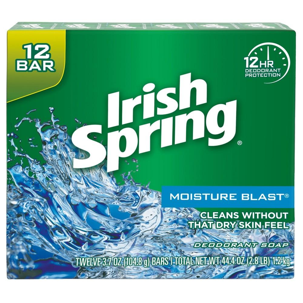 Image of Irish Spring Moisturizing Bar Soap Moisture Blast - 3.7oz/12pk