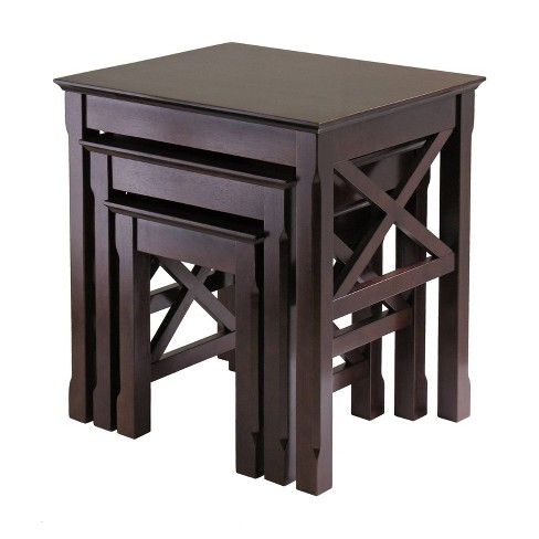 Xola 3 Piece Nesting Table - Cappuccino - Winsome - image 1 of 6