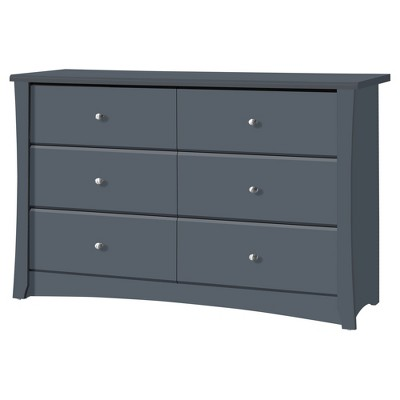 Storkcraft Crescent 6 Drawer Dresser - Gray