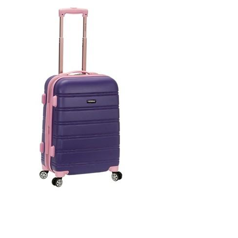 "Rockland Melbourne Expandable ABS Suitcase - Violet (20"") - image 1 of 3"