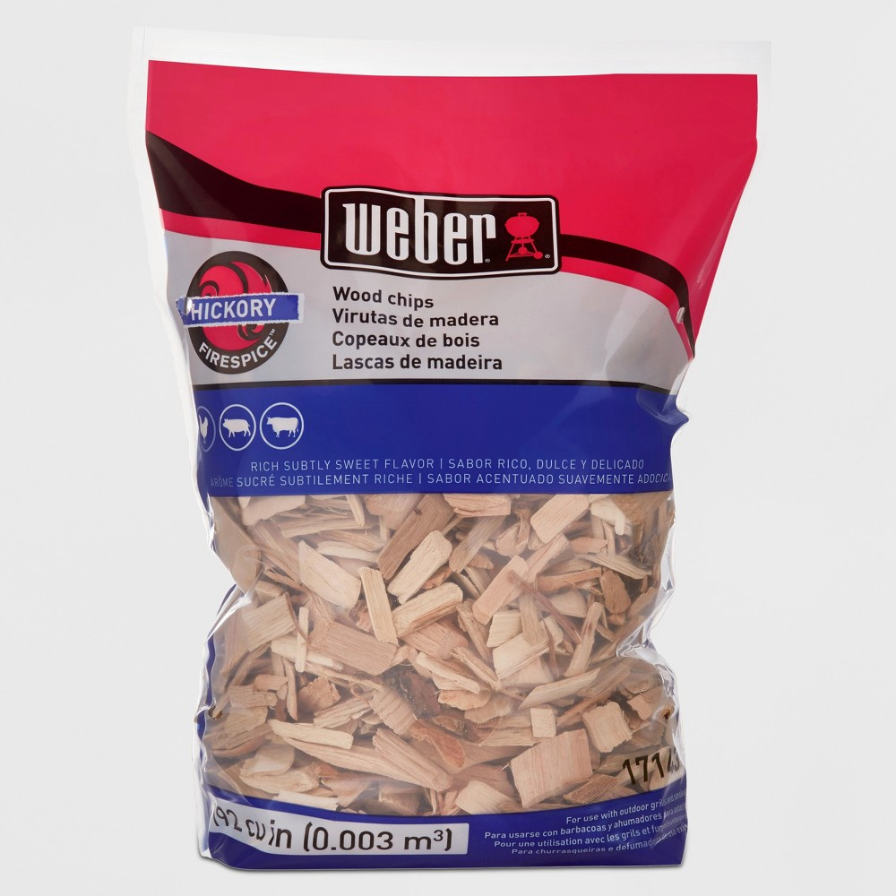 Weber Hickory Wood Chips, 192 Cu. In. bag, Brown 51335250