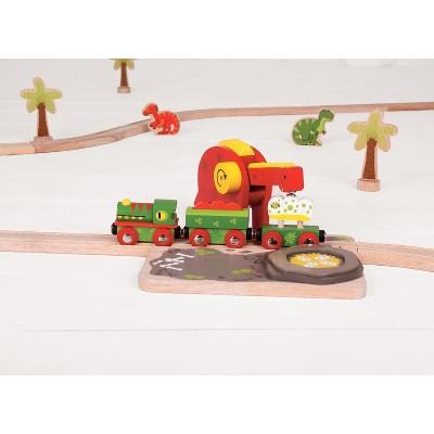 Bigjigs Rail Dino Crane Wooden Railway Train Set Accessory