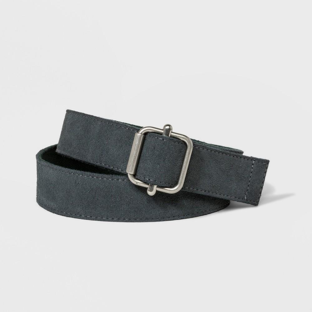 Men's Reversible Suede Webbing Belt - Goodfellow & Co Gray XL