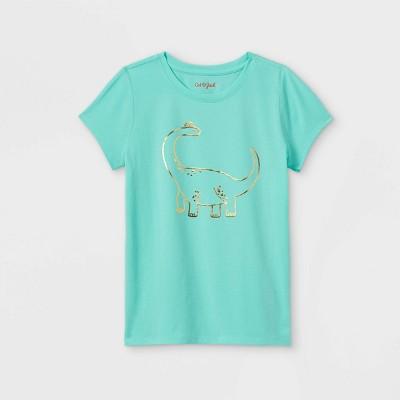 Girls' 'Dinosaur' Short Sleeve Graphic T-Shirt - Cat & Jack™ Mint