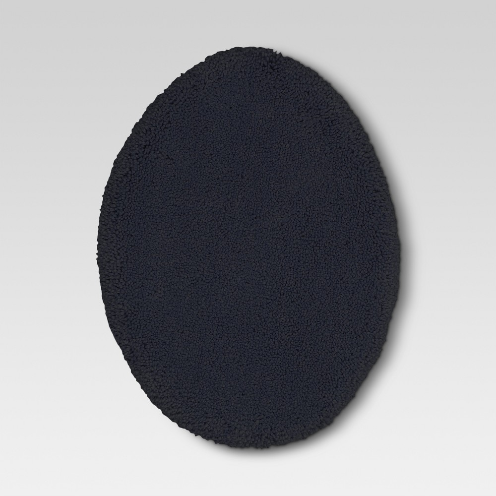 Performance Solid Toilet Lid Cover Xavier Navy - Threshold