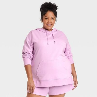 Women's Plus Size Fleece Lounge Hooded Sweatshirt - Ava & Viv™
